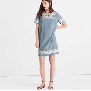 Madewell embroidered tunic dress